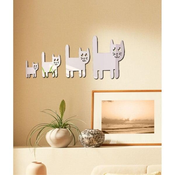 Lustro dekoracyjne Kocia rodzinka