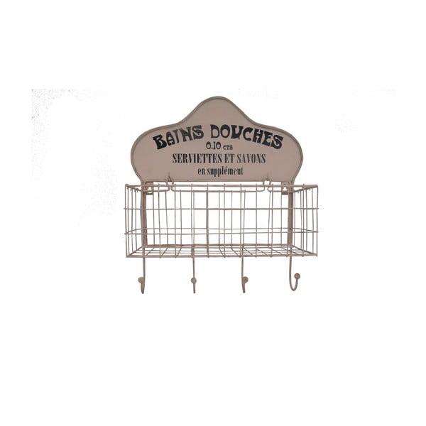 Koszyk ścienny z 4 haczykami Antic Line Bains