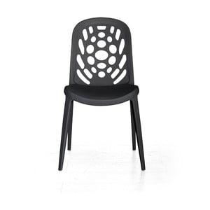 Krzesło Allegra, czarne