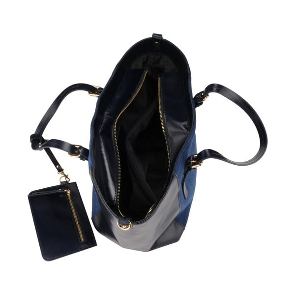 Skórzana torebka Gomeisa, granatowa