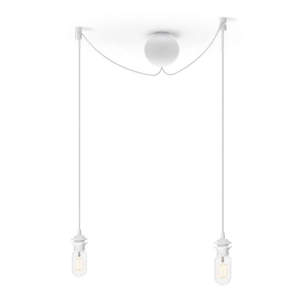 Biały podwójny kabel wiszący do lamp UMAGE Cannonball
