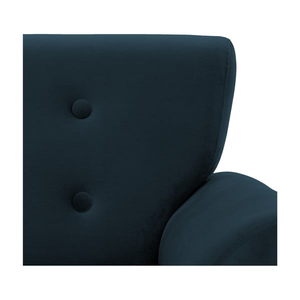 Granatowy fotel Vivonita Klara