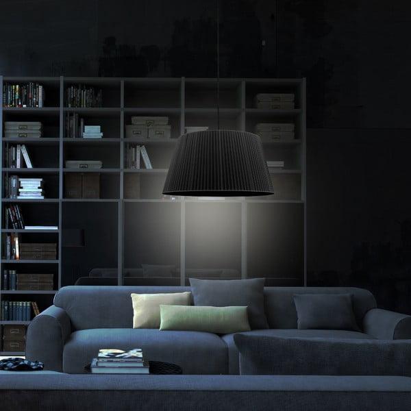 Czarna lampa wisząca Sotto Luce KAMI,Ø54cm
