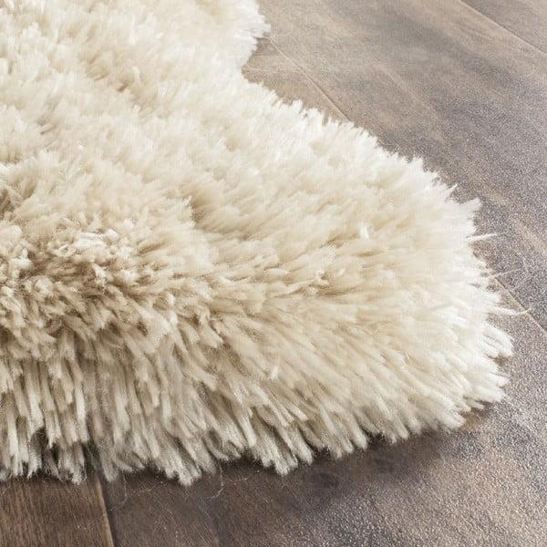 Białe futro ekologiczne Tegan, 91x152 cm