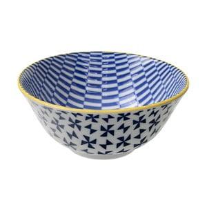 Porcelanowa miska Geo Tayo Blue, 15,2x6,7 cm
