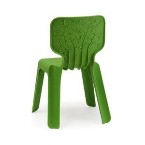Zielone krzesło dziecięce Magis Alma