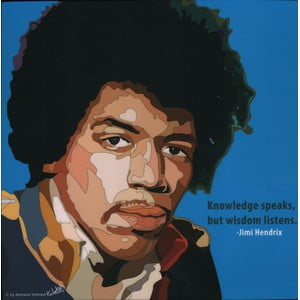 "Obraz ""Jimi Hendrix - Knowledge speaks"""