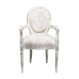 Białe krzesło z podłokietnikami Kare Design Louis