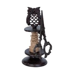 Stojak na sznurek z nożyczkami Clayre & Eef Owl