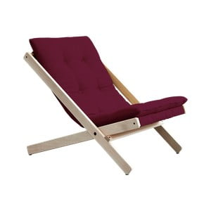 Fotel składany Karup Design Boogie Raw/Light Bordeaux