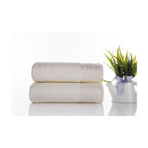 Zestaw 2 ręczników Sal Ecru, 50x90 cm