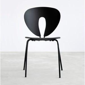 Krzesło Globus, czarne/czarne nogi