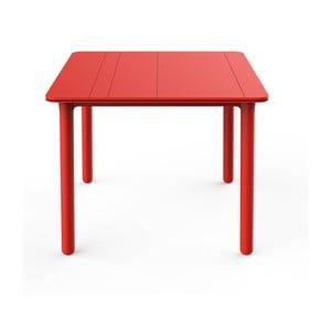 Czerwony stół ogrodowy Resol NOA, 90x90cm
