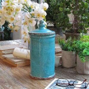 Naczynie Potiche Turquoise, 13x27 cm