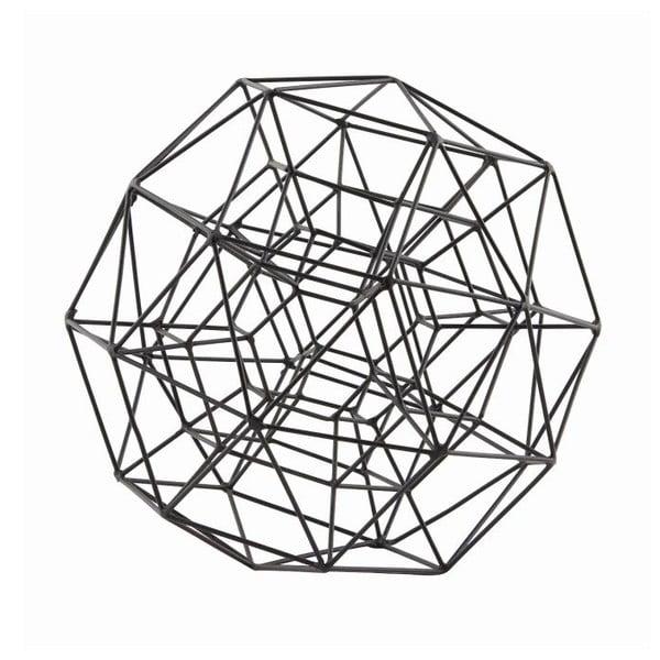 Dekoracja Globe Black, 21 cm