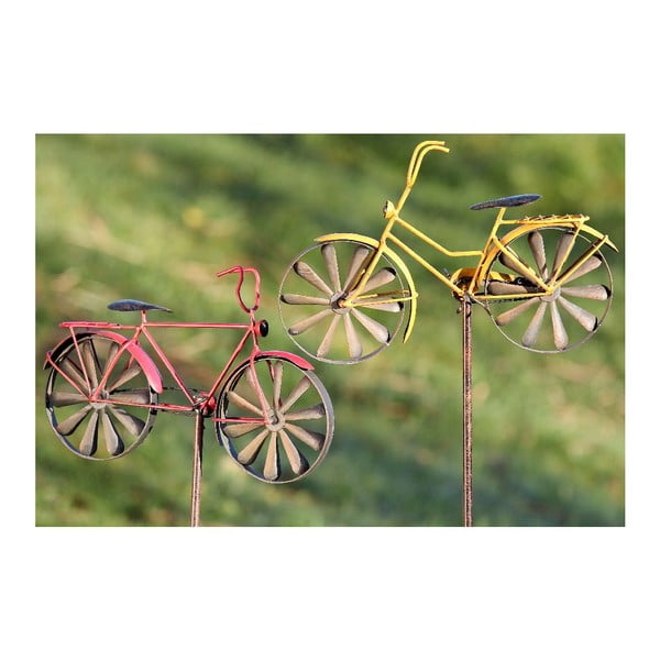 Zestaw 2 dekoracji ogrodowych Bikes
