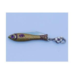 Scyzoryk rybka, fioletowe kryształki