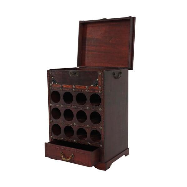 Brązowy stojak na wino (12 butelek) Mendler Shabby Colonial, 69 cm