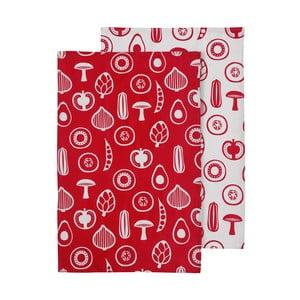 Zestaw 2 czerwonych ścierek Premier Housewares