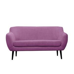 Fioletowa sofa trzyosobowa Mazzini Sofas Toscane