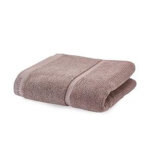 Szaro-brązowy ręcznik Aquanova Adagio, 55x100 cm