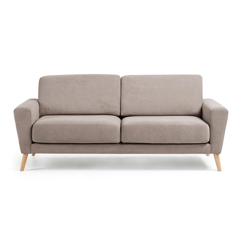 Jasnobrązowa sofa La Forma Guy