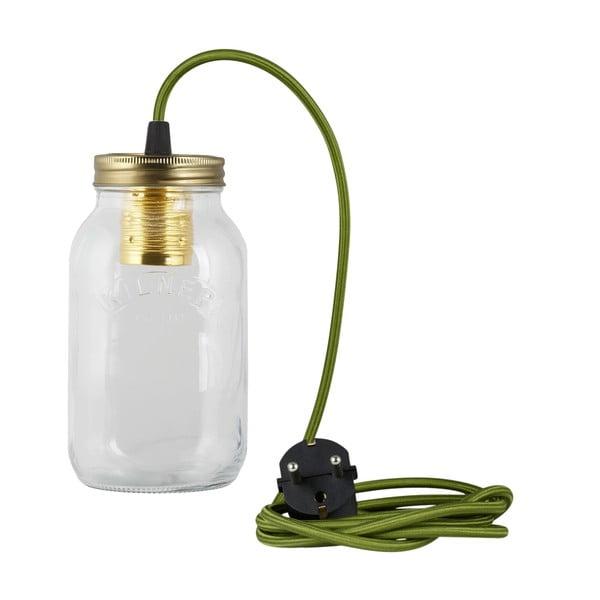 Lampa JamJar Lights, zielony okrągły kabel