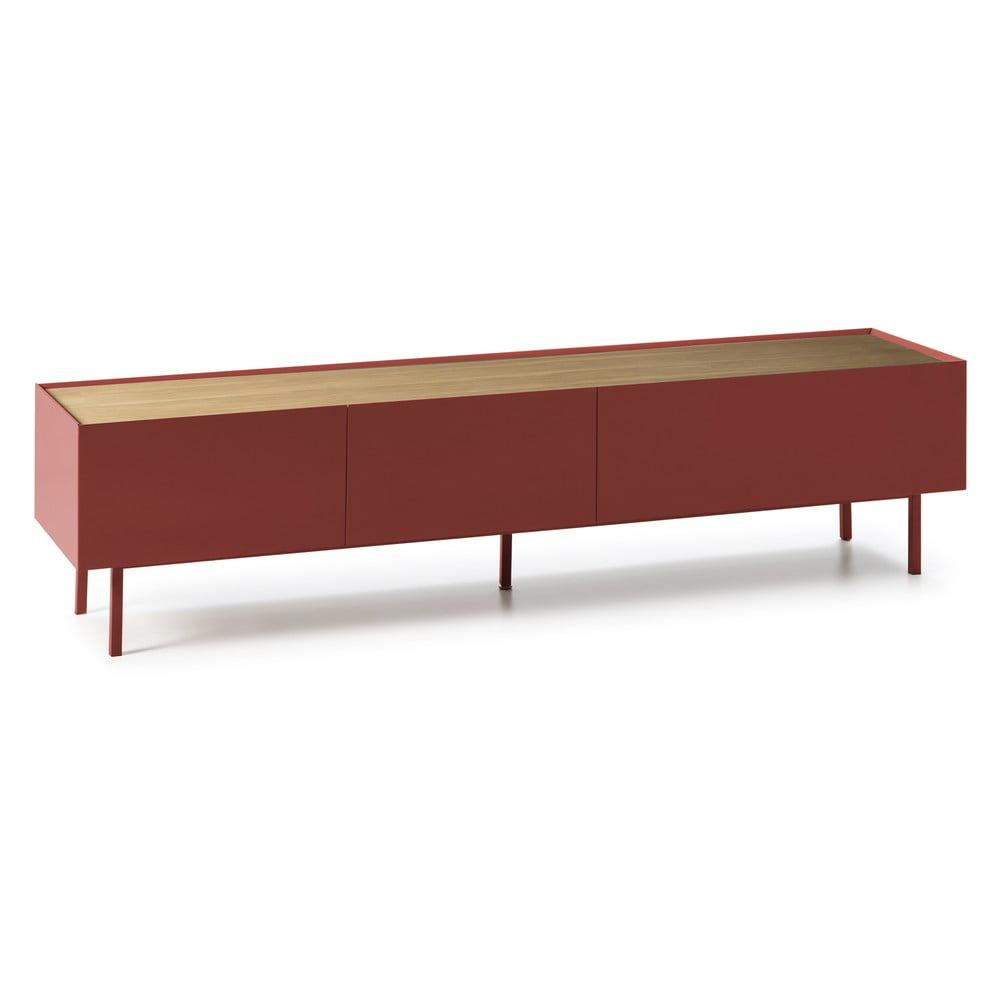 Ciemnoczerwony stolik pod TV Teulat Arista