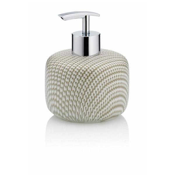 Beżowy ceramiczny dozownik do mydła Kela Moreau