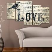 5-częściowy obraz Miłość