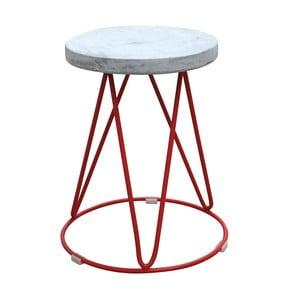 Stolik z czerwonymi nogami Red Cartel District