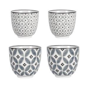 Zestaw 4 porcelanowych kubków Old Floor