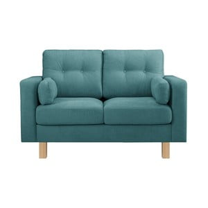 Niebieska sofa dwuosobowa Stella Cadente Lagoa