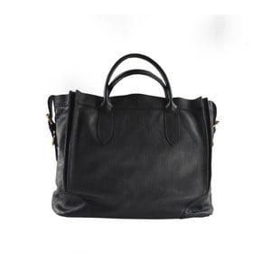 Černá kožená kabelka Chicca Borse Mulina