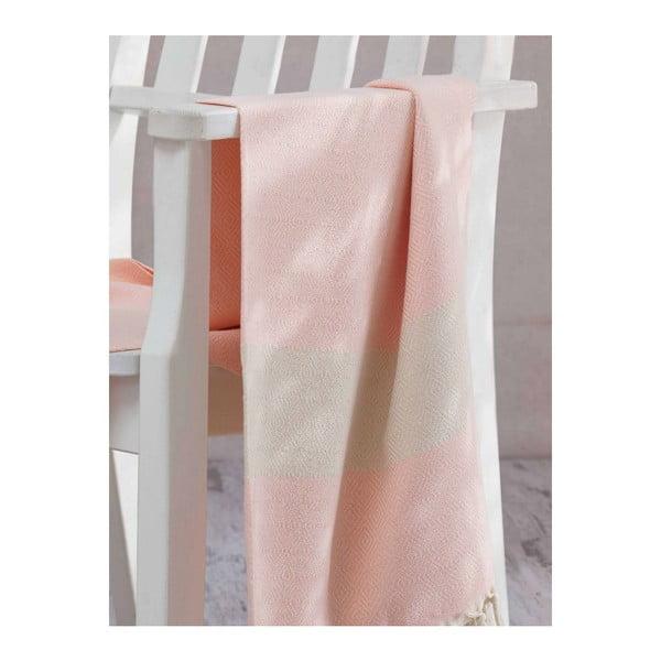 Hammam ręcznik kąpielowy Elmas Powder, 100x180 cm