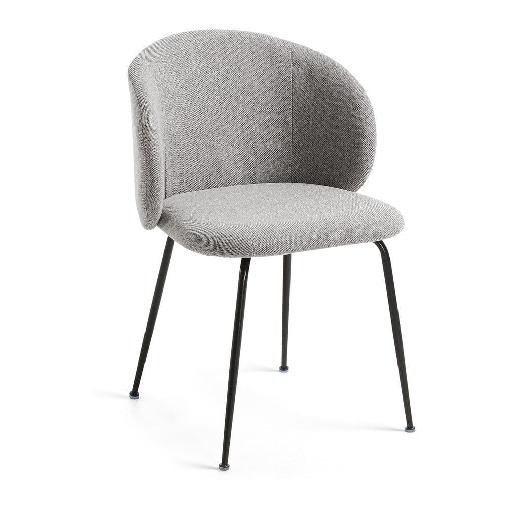Szare krzesło do jadalni La Forma Minna