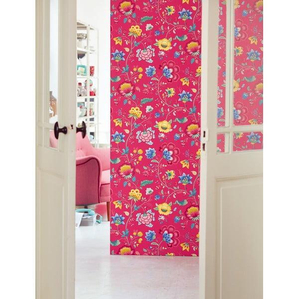 Tapeta Pip Studio Floral Fantasy, 0,52x10 m, malinowa