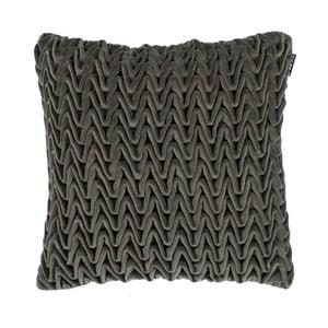 Szara poduszka ZicZac Waves, 45x45 cm