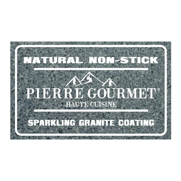 Patelnia do grillowania z rękojeścią imitującą drewno Bisetti Pierre Gourmet, 28x28 cm