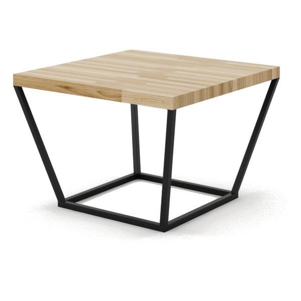 Mały stolik dębowy z czarną konstrukcją Absynth Noi