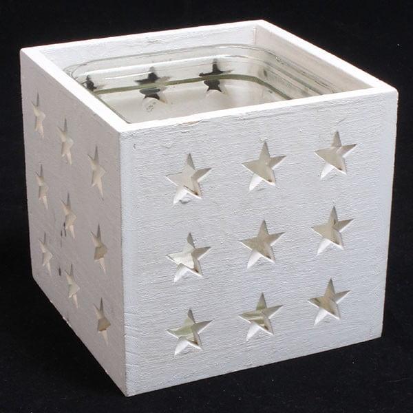 Świecznik w białe gwiazdy Dakls