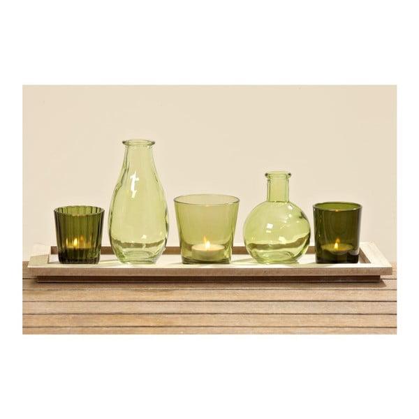 Zestaw 6 świeczników/wazonów Green Wind