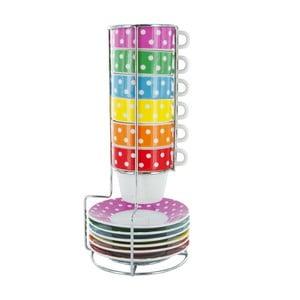 Zestaw 6 kubków na stojaku Espresso Mini Dots