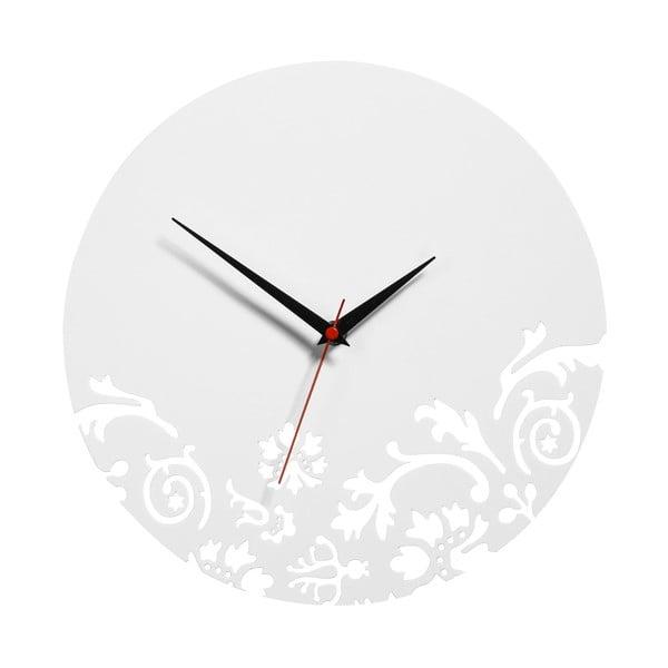 Zegar White Clock, 30 cm