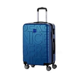 Niebieska walizka Berenice Typo, 71 l