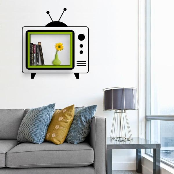 Półka z naklejką TV Green