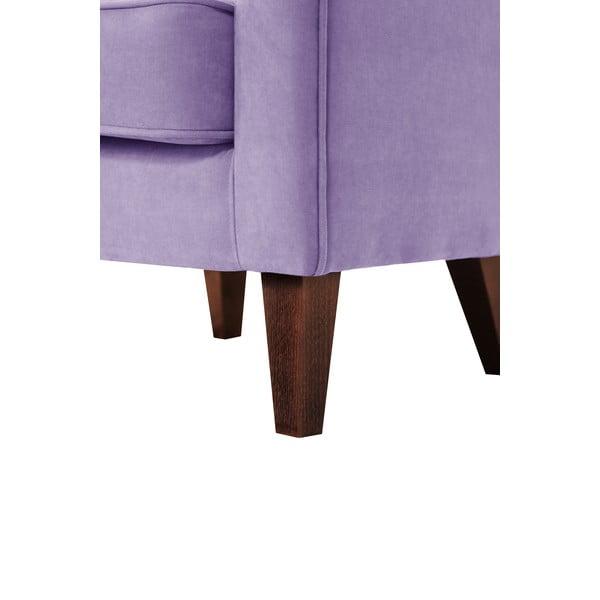 Jasnofioletowy fotel Jalouse Maison Kylie