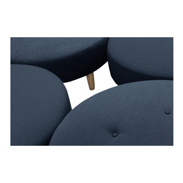 Ciemnoniebieski puf/stolik Helga Interiors Nolan