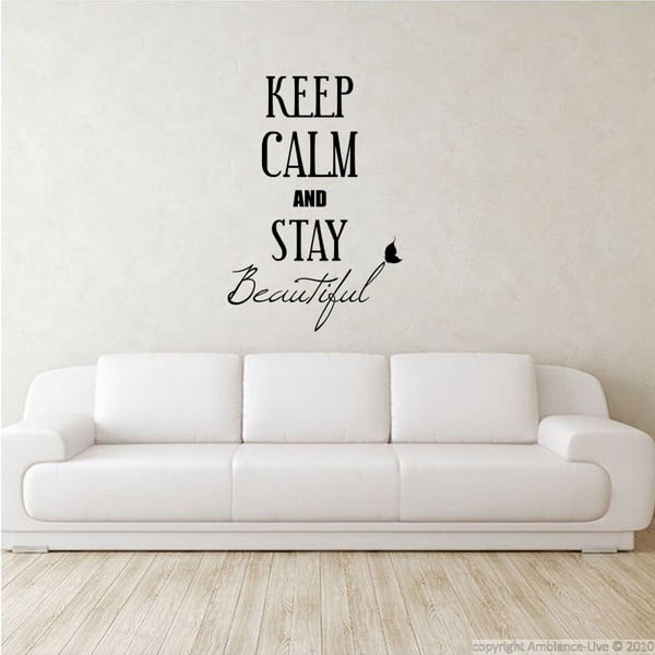 Naklejka Keep Calm and Stay Beautiful, 80x55 cm
