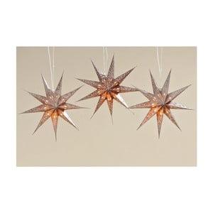 Zestaw 3 gwiazd Solei, 45 cm